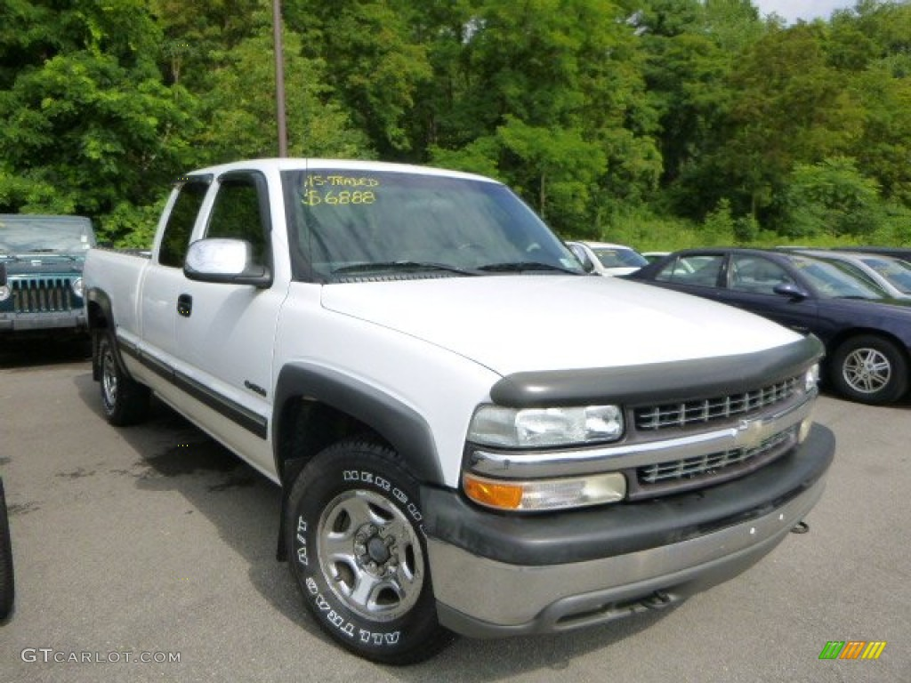 Summit White 2000 Chevrolet Silverado 1500 LS Extended Cab 4x4 Exterior Photo #83349005
