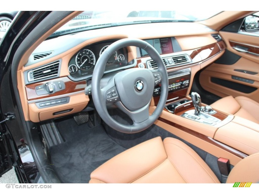 saddle black interior 2012 bmw 7 series 750li sedan photo 83351117. Black Bedroom Furniture Sets. Home Design Ideas