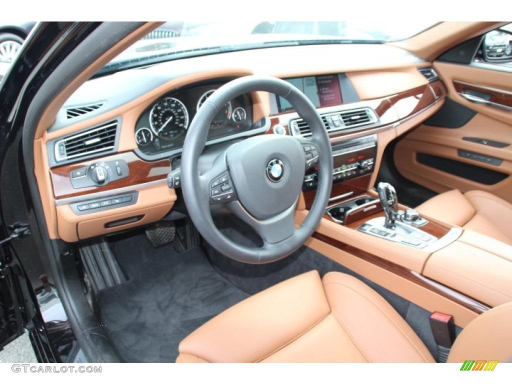 Saddle/Black Interior 2012 BMW 7 Series 750Li Sedan Photo ...