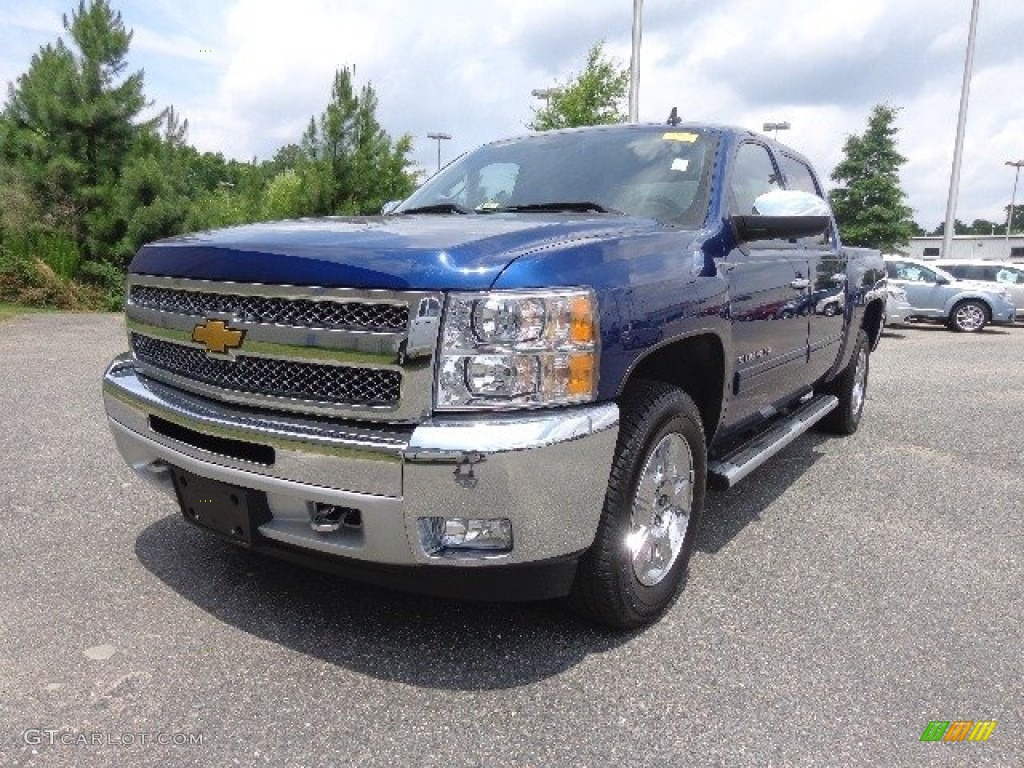 2013 Silverado 1500 LT Crew Cab - Blue Topaz Metallic / Ebony photo #2