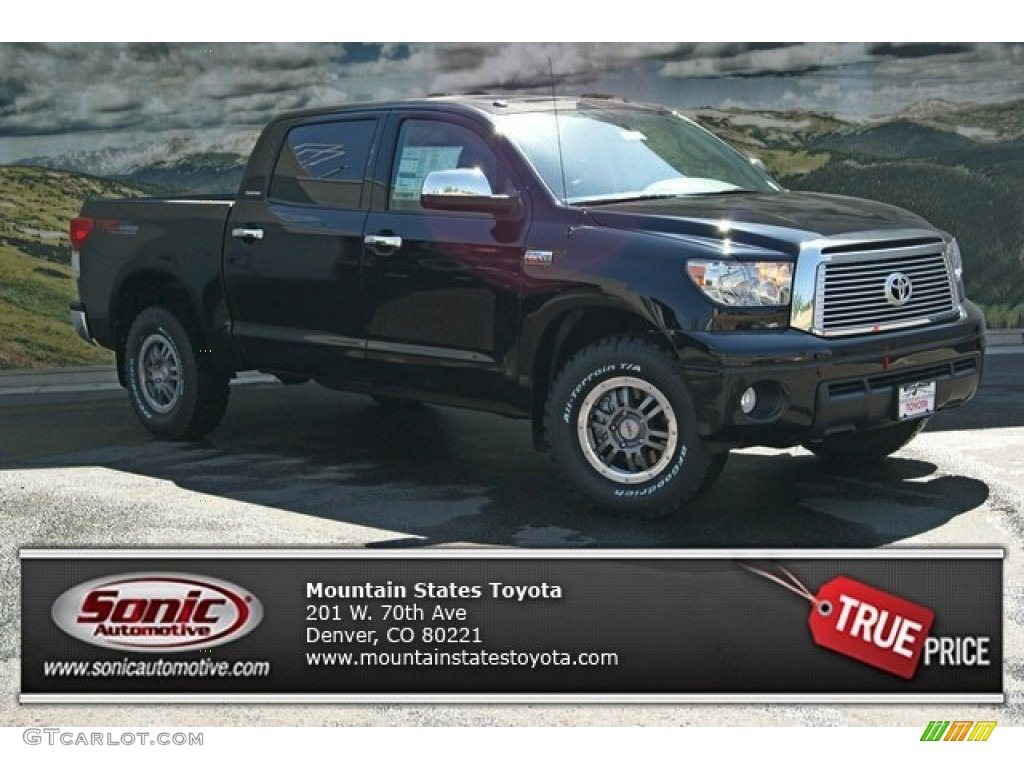 2013 Tundra TRD Rock Warrior CrewMax 4x4 - Black / Black photo #1