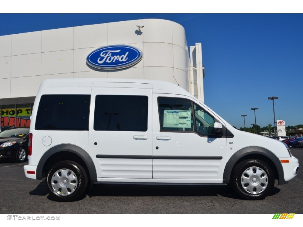 frozen white 2013 ford transit connect xlt premium wagon exterior. Cars Review. Best American Auto & Cars Review