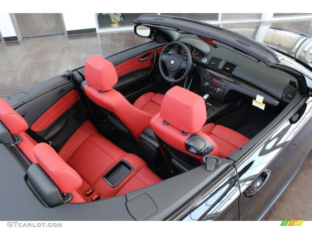 Coral Red Interior 2013 Bmw 1 Series 128i Convertible Photo 83410664