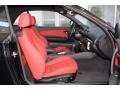 2013 BMW 1 Series Coral Red Interior Front Seat Photo