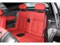 2013 BMW 1 Series Coral Red Interior Rear Seat Photo
