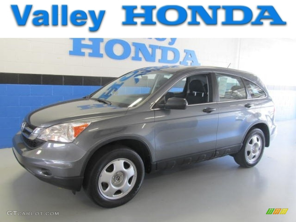 2010 CR-V LX AWD - Polished Metal Metallic / Black photo #1