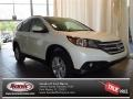 2013 White Diamond Pearl Honda CR-V EX-L  photo #1