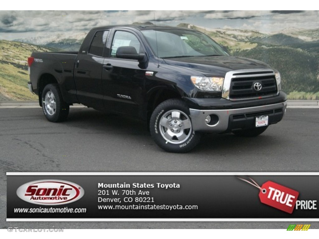 2013 Tundra SR5 TRD Double Cab 4x4 - Black / Graphite photo #1