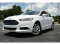 2013 Oxford White Ford Fusion SE  photo #1