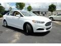 2013 Oxford White Ford Fusion SE  photo #3