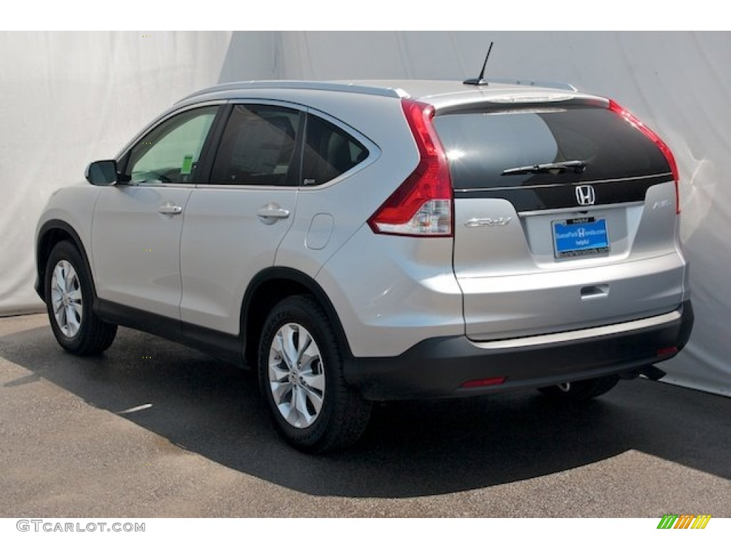 2013 CR-V EX-L AWD - Alabaster Silver Metallic / Gray photo #5