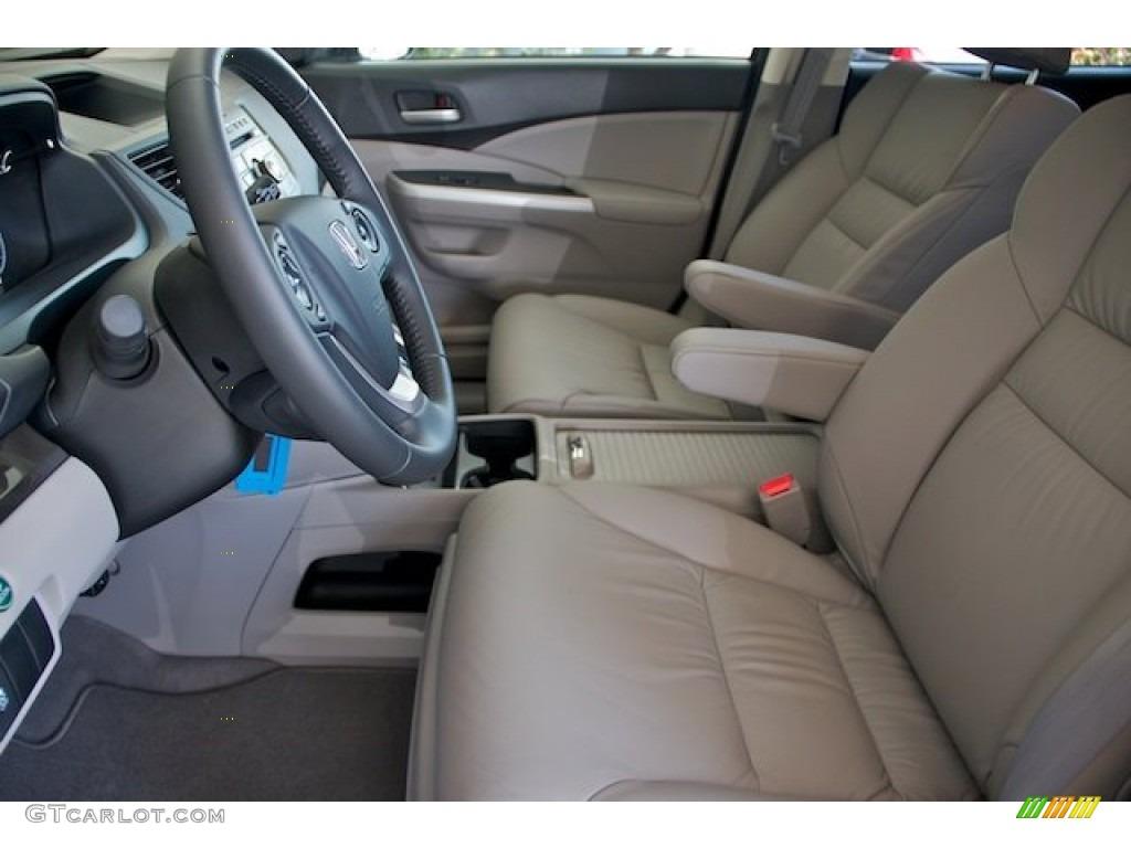 2013 CR-V EX-L AWD - Alabaster Silver Metallic / Gray photo #9