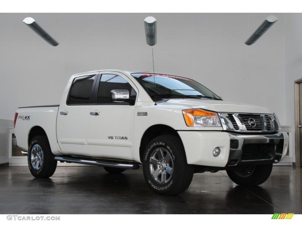 2012 Nissan Titan Sv >> 2012 Blizzard White Nissan Titan Pro-4X Crew Cab 4x4 #83499572 | GTCarLot.com - Car Color Galleries