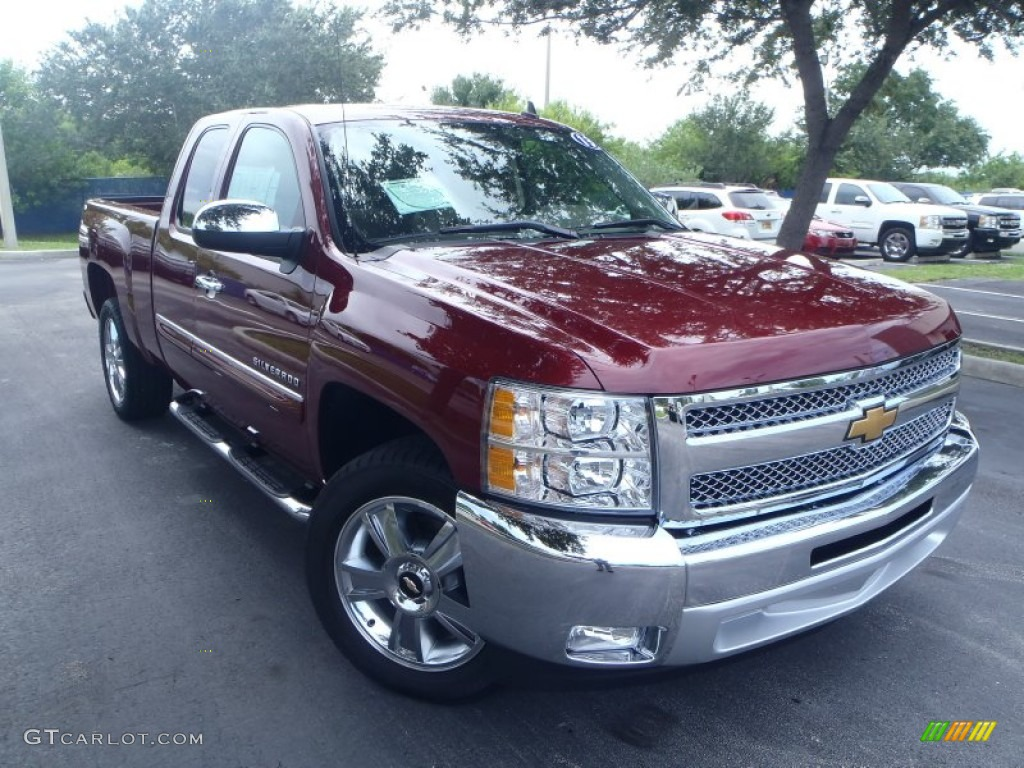 2013 Silverado 1500 LT Extended Cab - Deep Ruby Metallic / Light Cashmere/Dark Cashmere photo #1