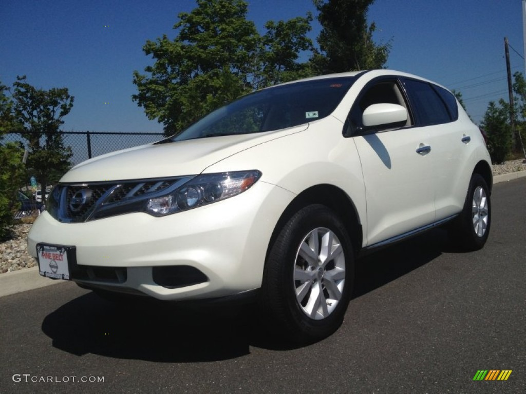 2011 Murano S AWD - Glacier White Pearl / Beige photo #1