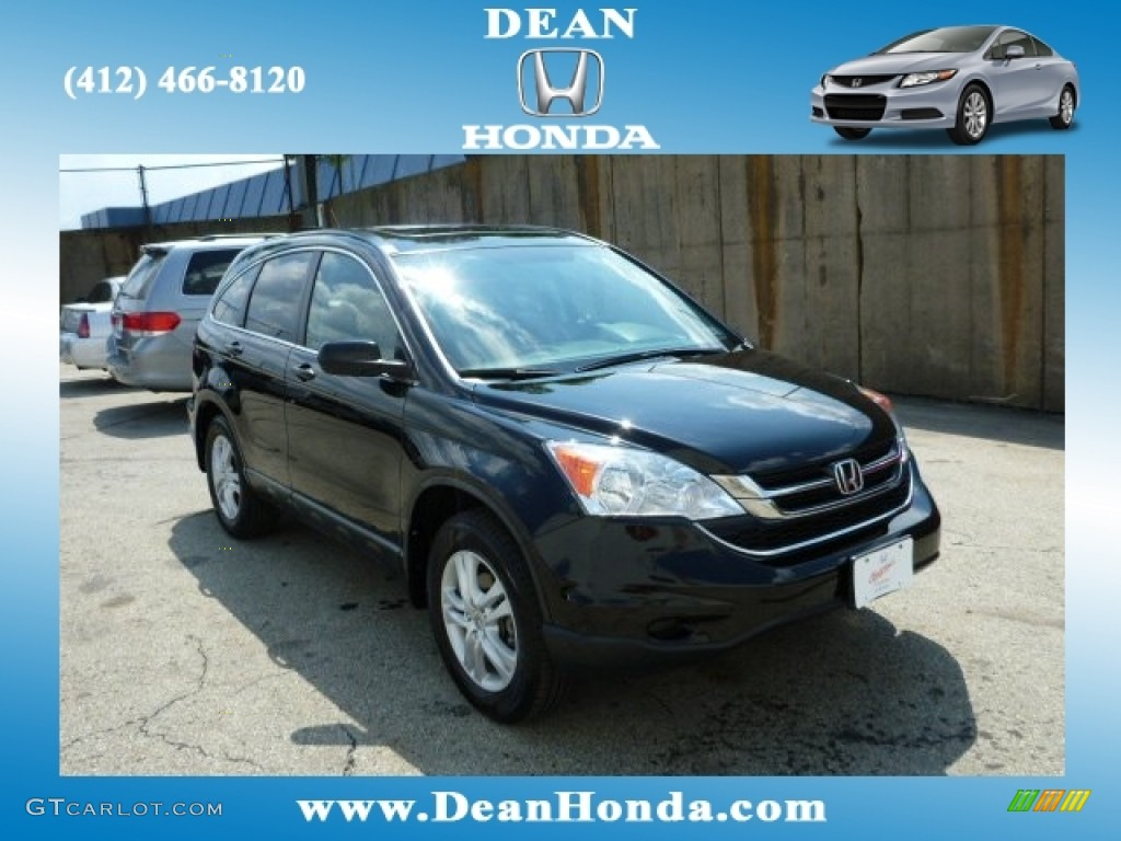 2010 CR-V EX - Crystal Black Pearl / Black photo #1
