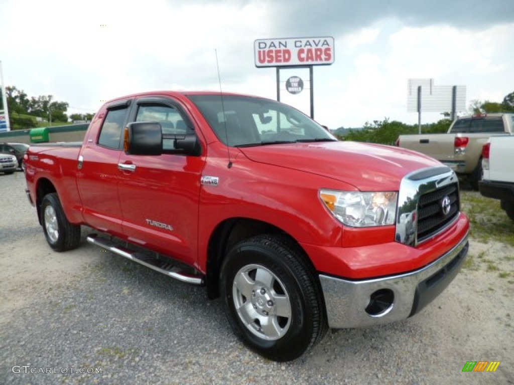 2009 Tundra TRD Double Cab 4x4 - Radiant Red / Graphite Gray photo #1