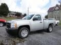 2013 Silver Ice Metallic Chevrolet Silverado 1500 Work Truck Regular Cab  photo #3