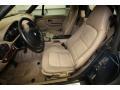 2001 BMW Z3 Beige Interior Front Seat Photo
