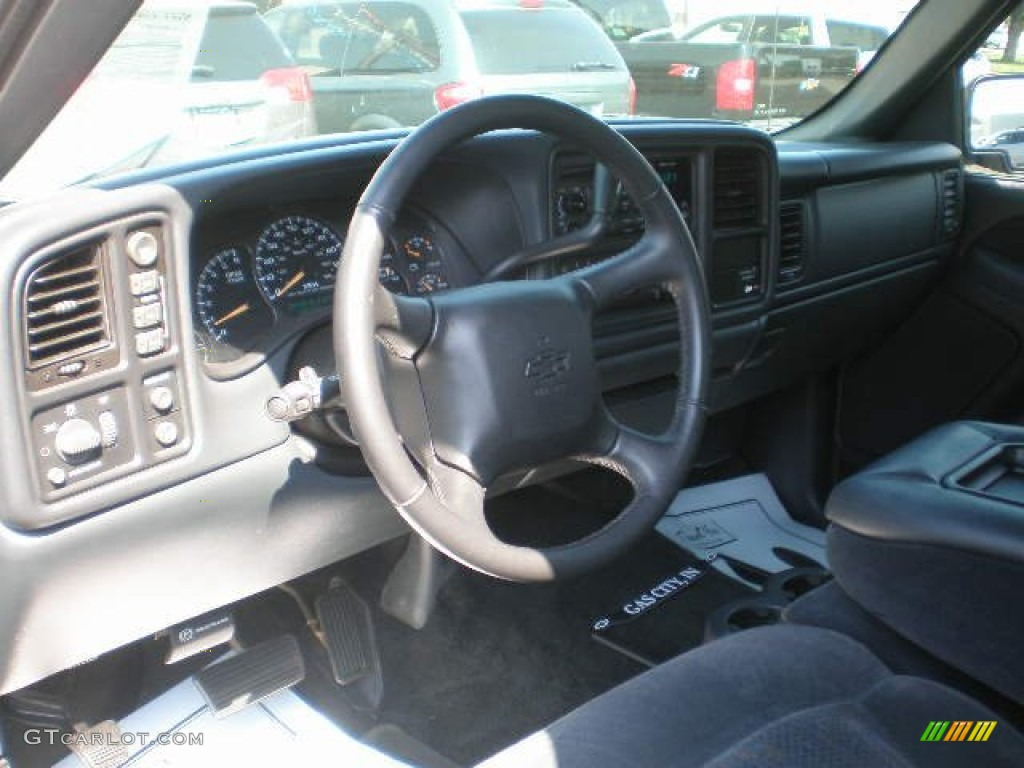 2002 Silverado 1500 LS Extended Cab 4x4 - Medium Charcoal Gray Metallic / Graphite Gray photo #13