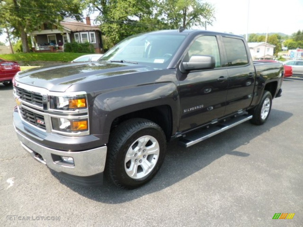 tungsten metallic 2014 chevrolet silverado 1500 lt z71 crew cab 4x4 exterior photo 83606463. Black Bedroom Furniture Sets. Home Design Ideas