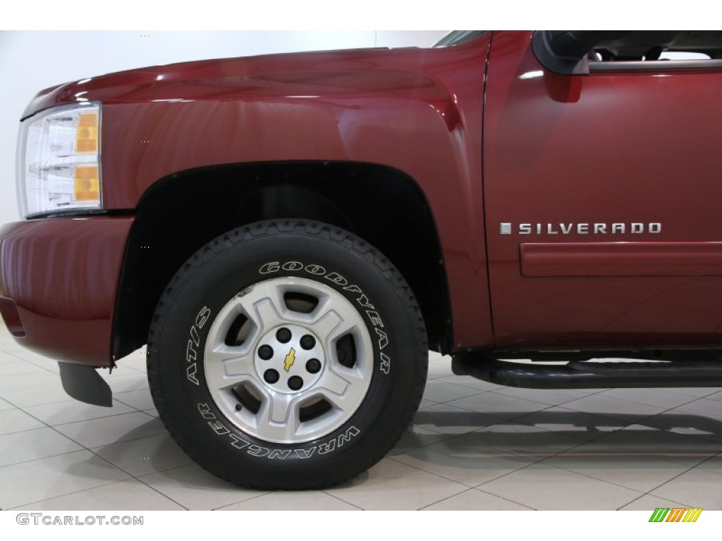 2009 Silverado 1500 LT Extended Cab 4x4 - Deep Ruby Red Metallic / Ebony photo #16