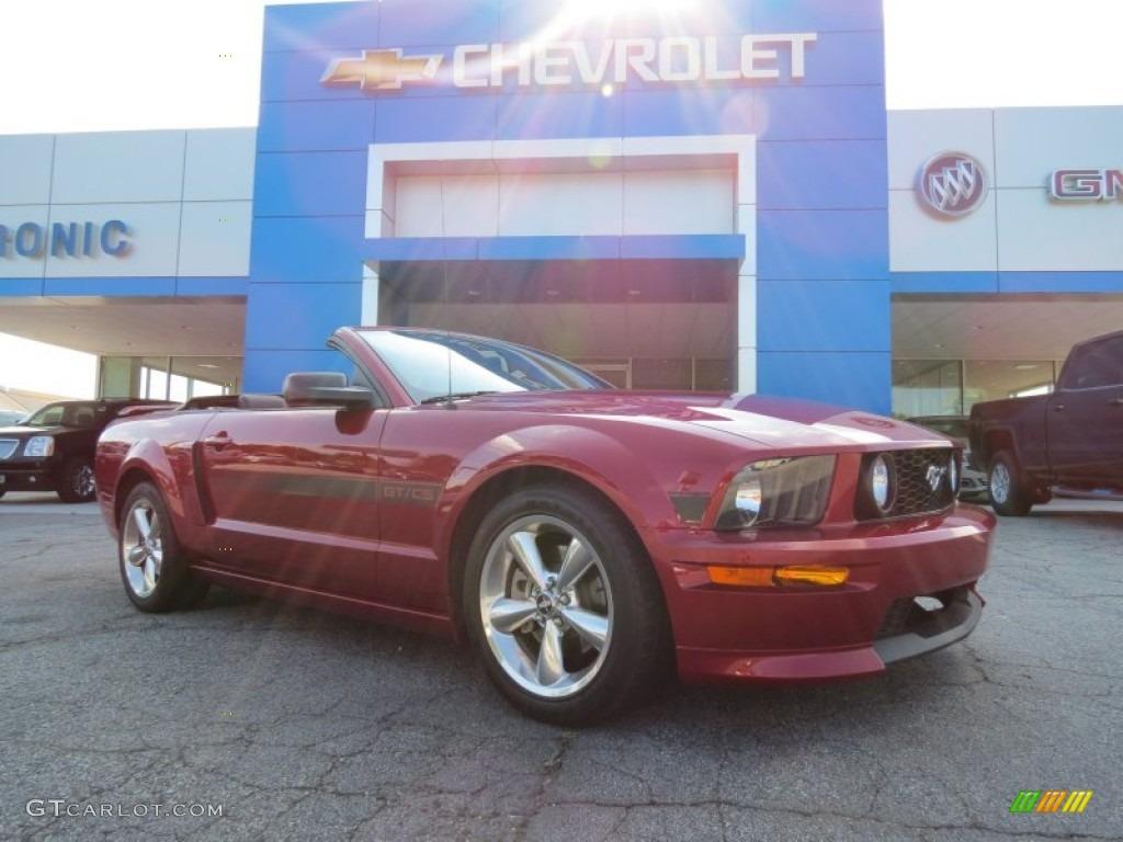 2007 Mustang GT/CS California Special Convertible - Redfire Metallic / Black/Parchment photo #1