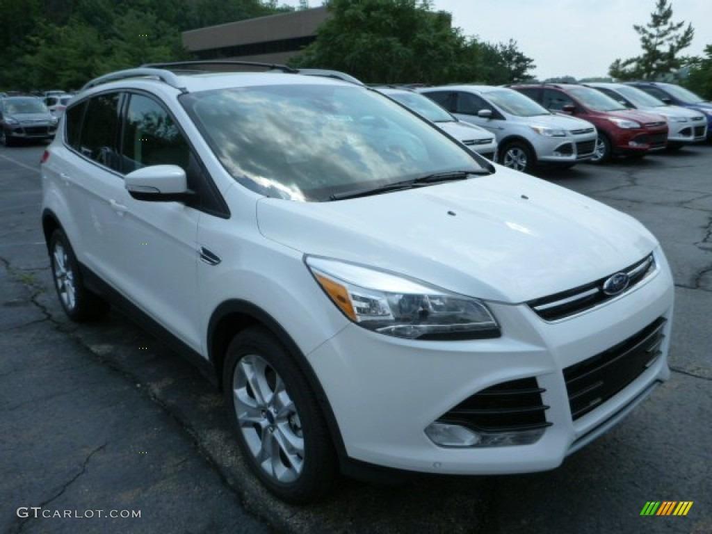 2014 Escape Titanium 2.0L EcoBoost 4WD - White Platinum / Medium Light Stone photo #1