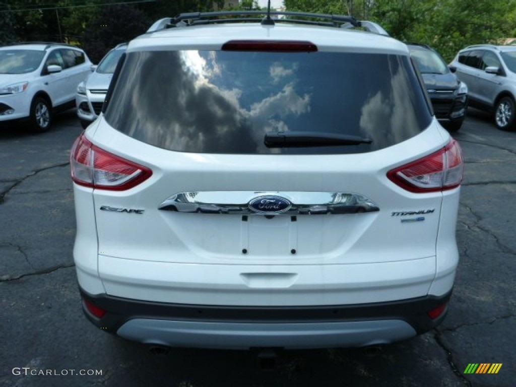2014 Escape Titanium 2.0L EcoBoost 4WD - White Platinum / Medium Light Stone photo #3