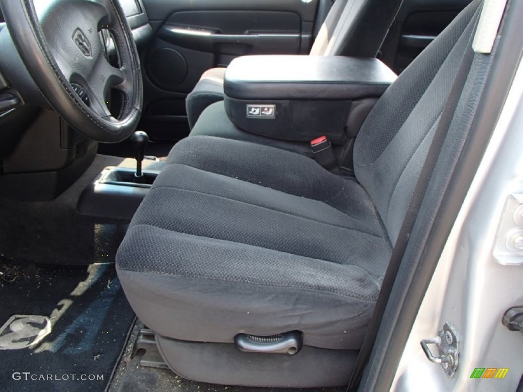 Dark Slate Gray Interior 2002 Dodge Ram 1500 ST Quad Cab 4x4 Photo #83656999
