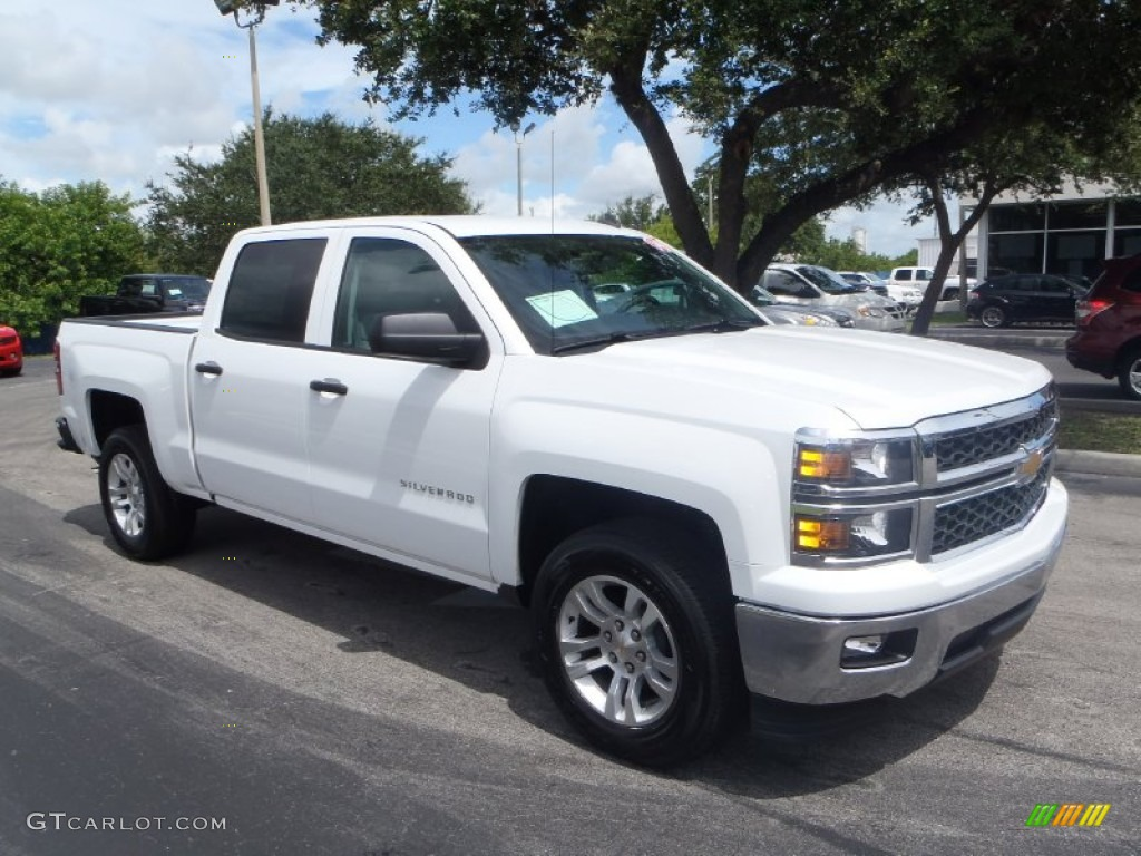 2014 summit white chevrolet silverado 1500 lt crew cab 83693020 car color. Black Bedroom Furniture Sets. Home Design Ideas