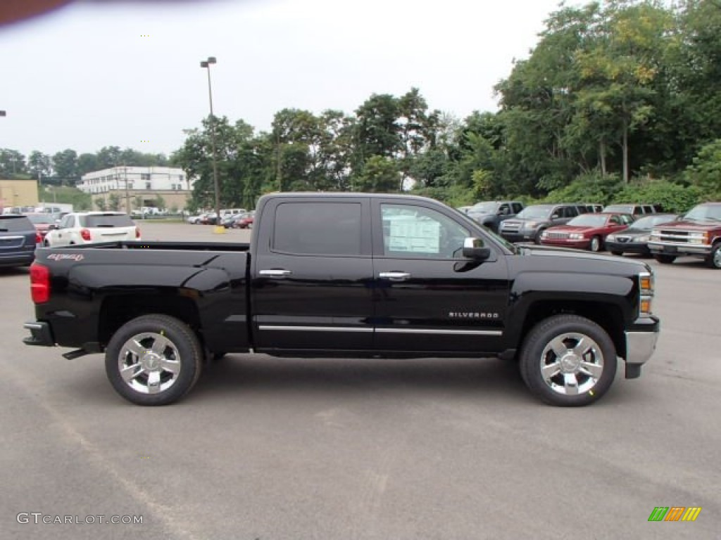 2014 black chevrolet silverado 1500 ltz crew cab 4x4 83692716 car color galleries. Black Bedroom Furniture Sets. Home Design Ideas