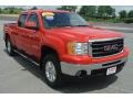 Fire Red 2009 GMC Sierra 1500 SLT Crew Cab 4x4