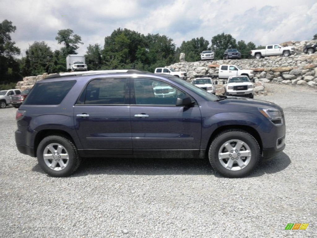 2014 Acadia SLE - Atlantis Blue Metallic / Ebony photo #1