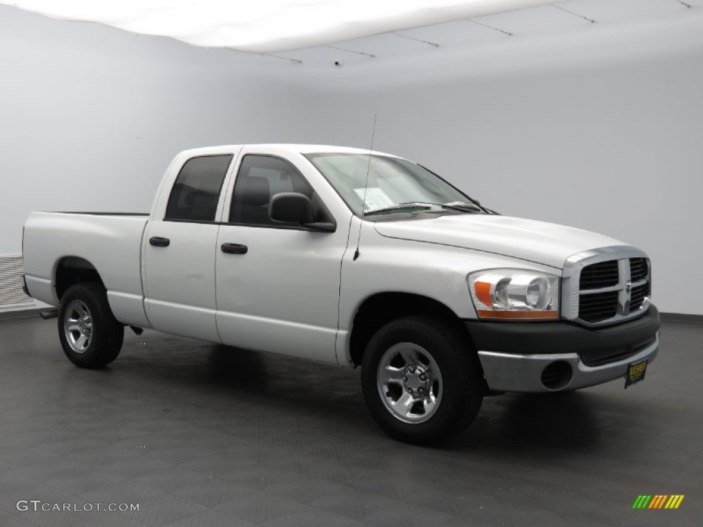 2006 Ram 1500 ST Quad Cab - Bright White / Medium Slate Gray photo #1