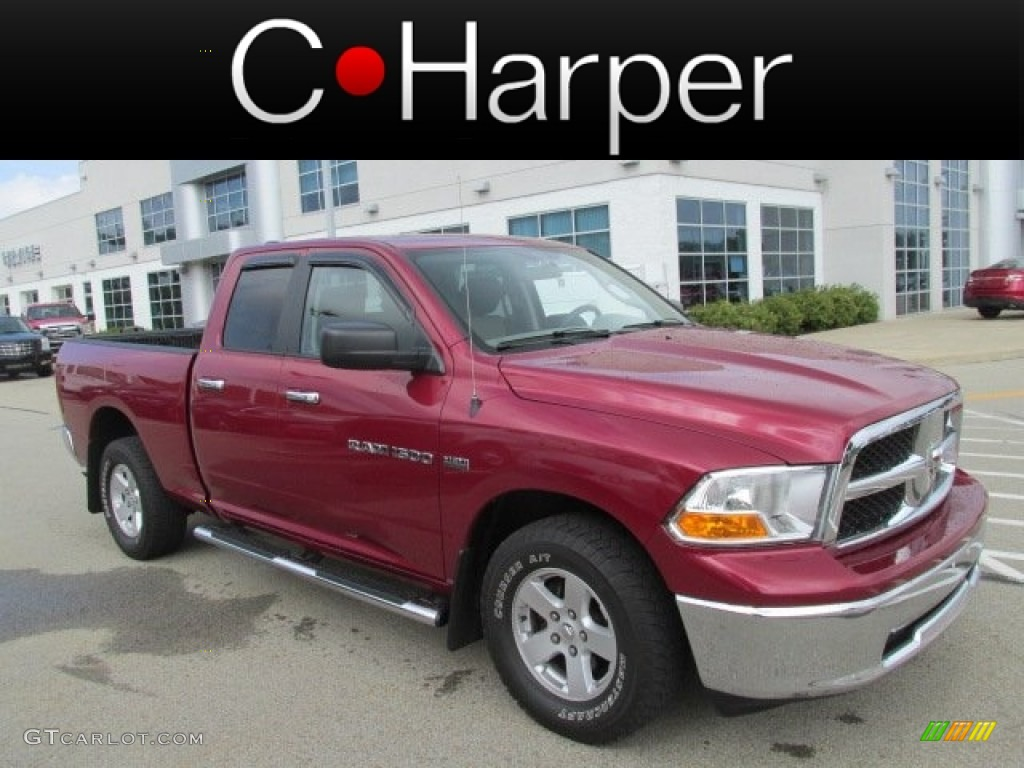 2011 Ram 1500 SLT Quad Cab 4x4 - Deep Cherry Red Crystal Pearl / Dark Slate Gray/Medium Graystone photo #1