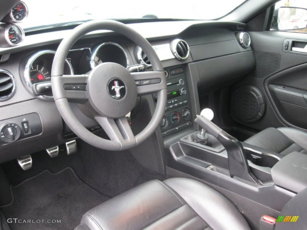 Black Interior 2008 Ford Mustang Shelby Gt Coupe Photo 83753698