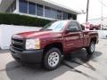 2013 Deep Ruby Metallic Chevrolet Silverado 1500 Work Truck Regular Cab  photo #3