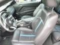 2011 Ford Mustang Charcoal Black/Grabber Blue Interior Front Seat Photo