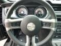 2011 Ford Mustang Charcoal Black/Grabber Blue Interior Steering Wheel Photo