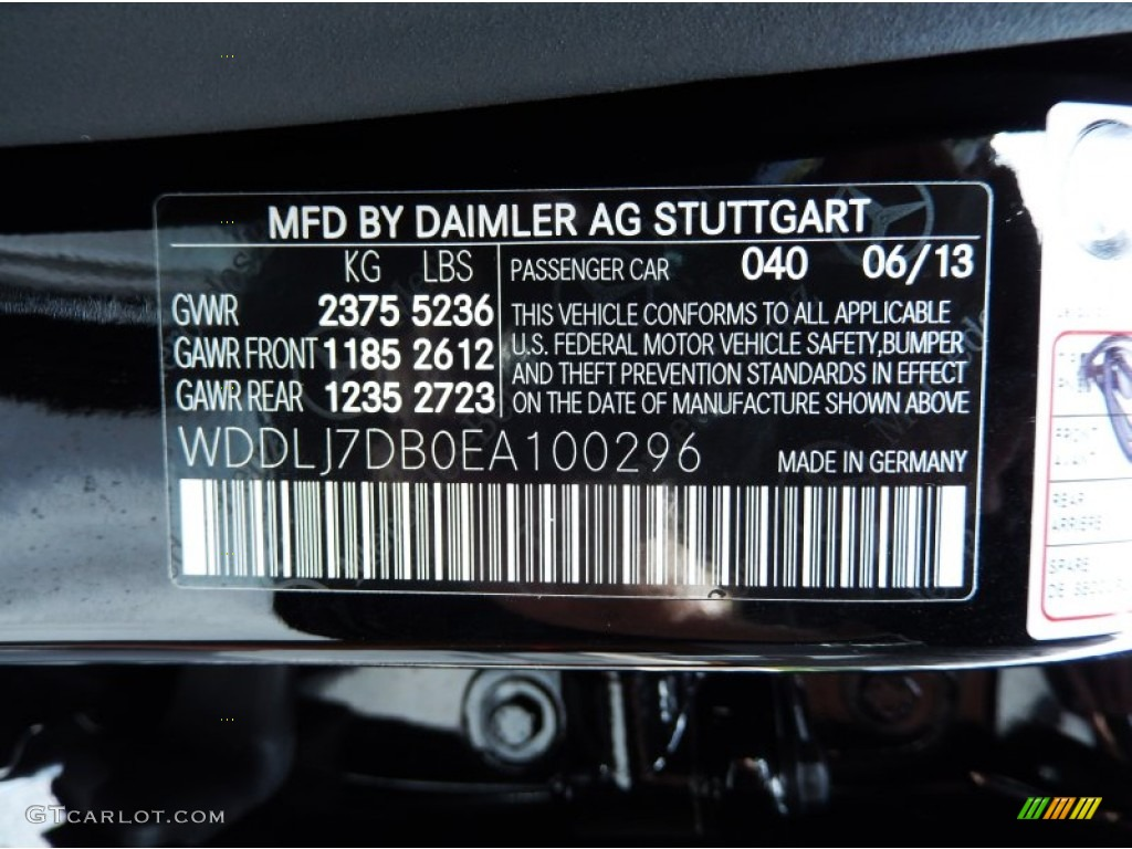 2014 cls color code 040 for black photo 83781205 for Mercedes benz color codes