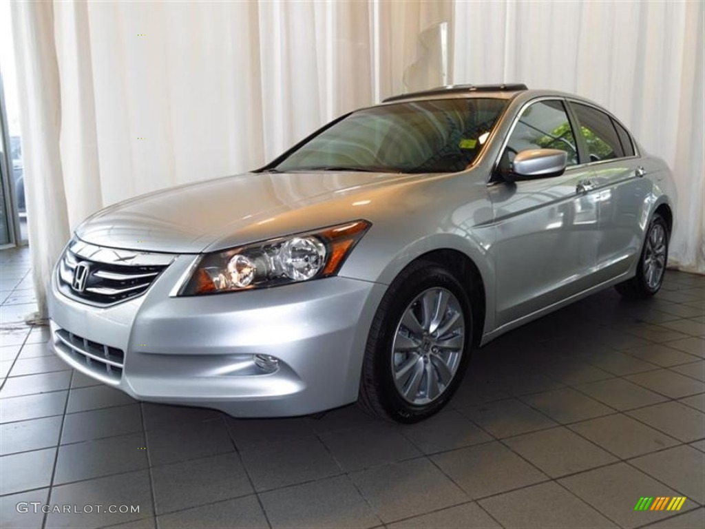 Alabaster Silver Metallic 2012 Honda Accord Ex L V6 Sedan