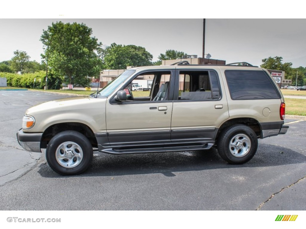 harvest gold metallic 1999 ford explorer xlt 4x4 exterior. Black Bedroom Furniture Sets. Home Design Ideas