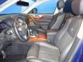 2013 Infiniti FX Graphite Interior Front Seat Photo