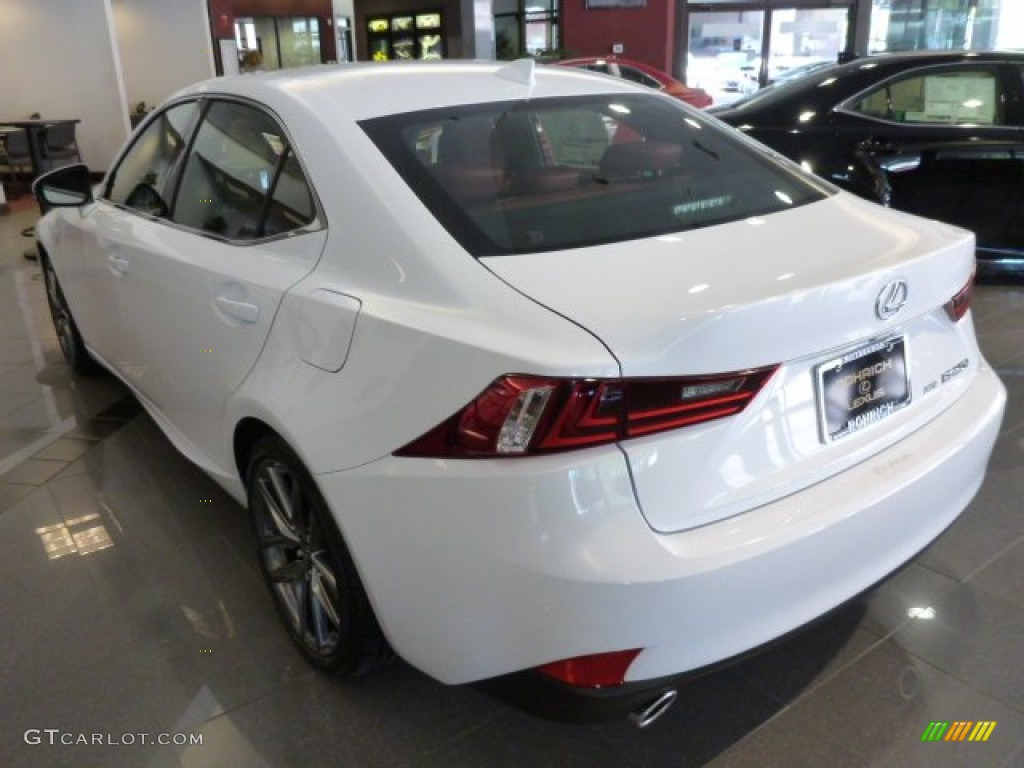 2014 IS 250 F Sport AWD   Ultra White / Rioja Red Photo #2