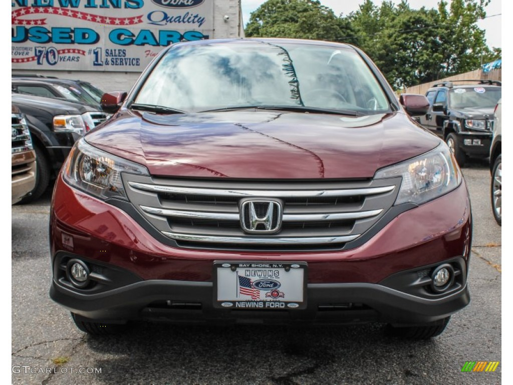 2012 CR-V EX 4WD - Basque Red Pearl II / Gray photo #2