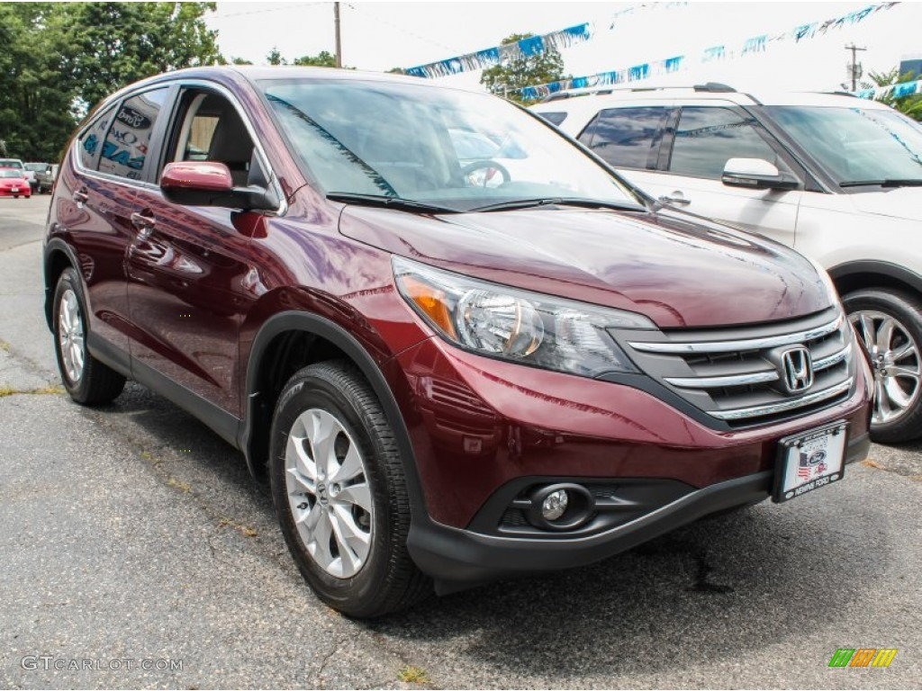 2012 CR-V EX 4WD - Basque Red Pearl II / Gray photo #6
