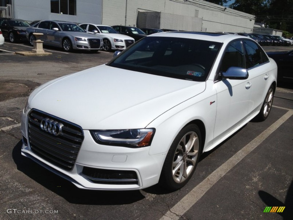 2013 glacier white metallic audi s4 3 0t quattro sedan 83883922 car color. Black Bedroom Furniture Sets. Home Design Ideas