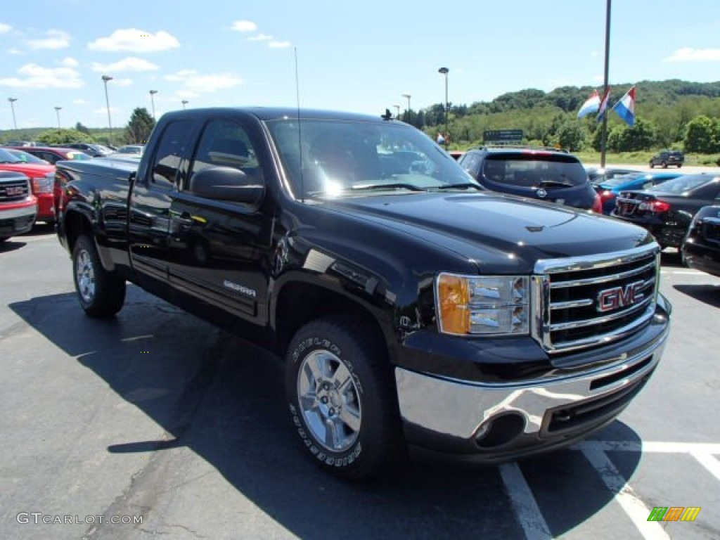carbon black metallic 2012 gmc sierra 1500 sle extended cab 4x4 exterior photo 83934022. Black Bedroom Furniture Sets. Home Design Ideas