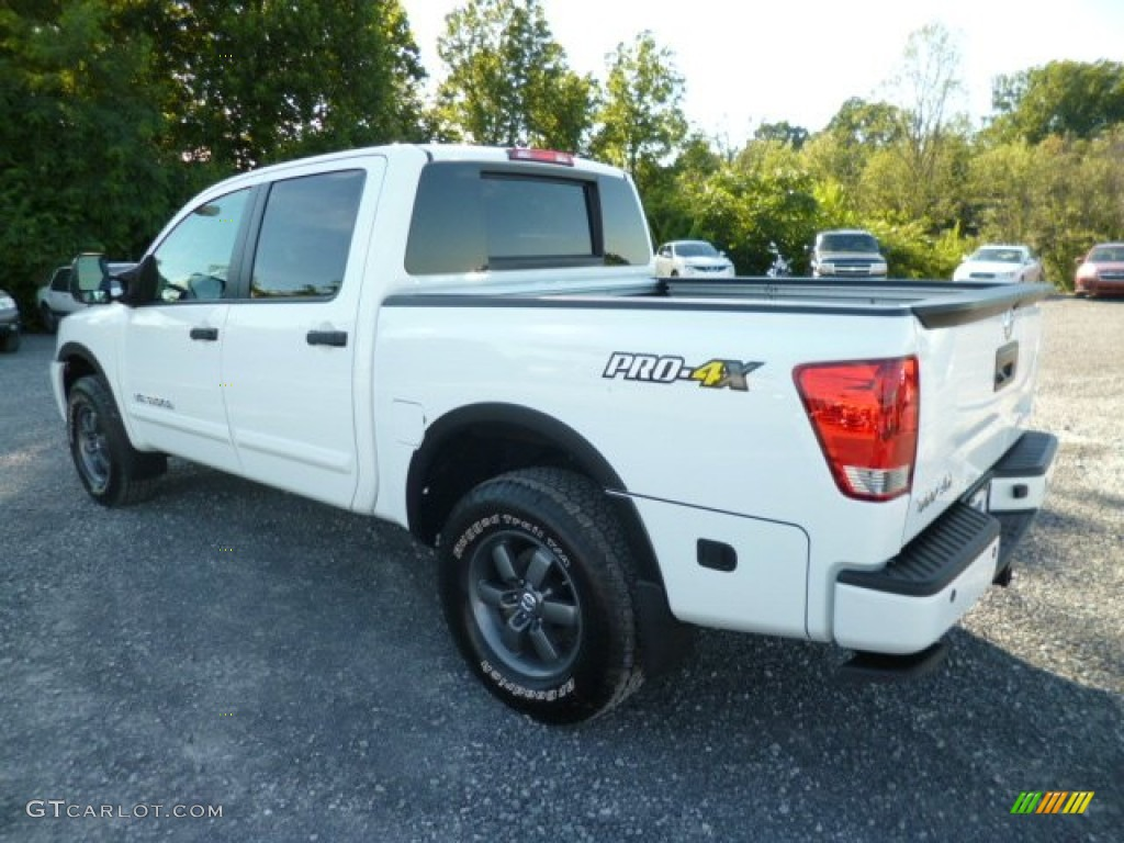 2013 Glacier White Nissan Titan Pro 4x Crew Cab 4x4 83935208 Photo 5 Gtcarlot Com Car Color Galleries